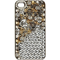 Black gem embellished iPhone 4/4S case