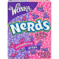 Strawberry and grape Nerd sweets