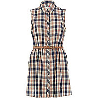 Blue check Chelsea Girl shirt dress