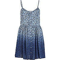 Blue Chelsea Girl printed ombre cami dress