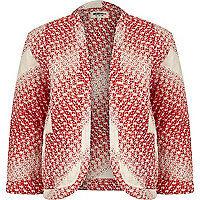 Red Chelsea Girl ditsy print bed jacket