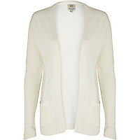 White unfastened cardigan