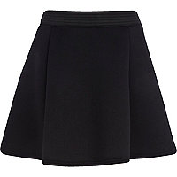 Black neoprene skater skirt