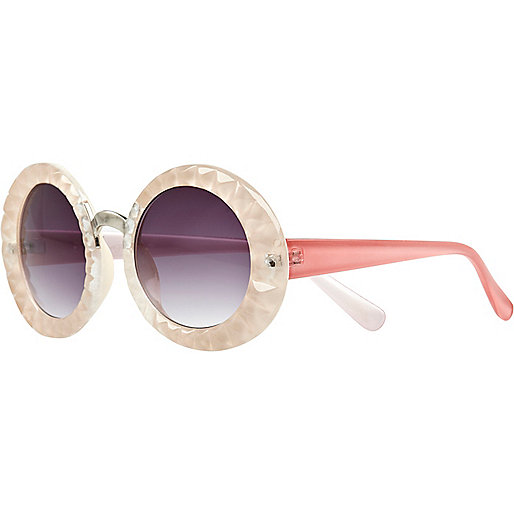 Pink Jeepers Peepers texture round sunglasses
