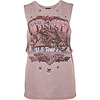 Purple America's finest print tank top