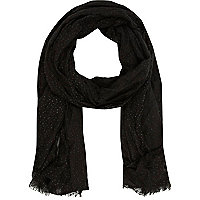 Black lightweight scarf