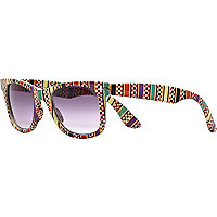 Red aztec print retro sunglasses