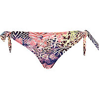Pink Pacha animal print stud bikini bottoms