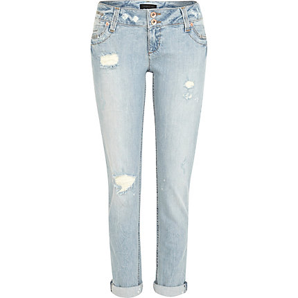 Light wash ripped Matilda skinny jeans