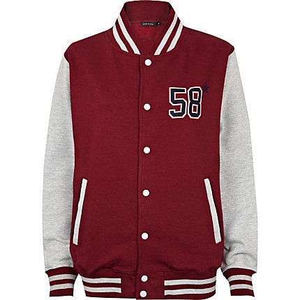 Red NYC varsity jacket