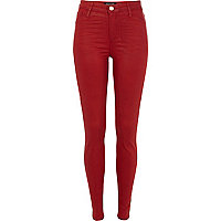 Rust red spray coated Molly jeggings