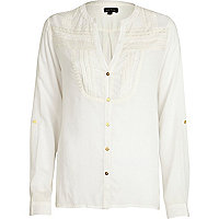 Cream victoriana tunic blouse