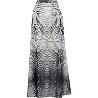 Grey Georgia Hardinge printed maxi skirt