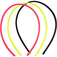 Neon bungee cord hair band pack