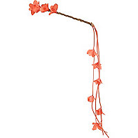 Coral flower hair garland