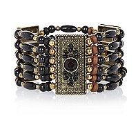Black tribal stretch bracelet