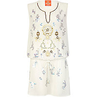 Cream Pacha embellished dress