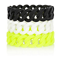 Black gummy bracelets pack