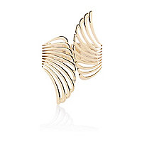 Gold tone metal wing cuff