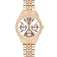 Rose gold tone bracelet watch
