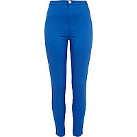 Bright blue tube pants