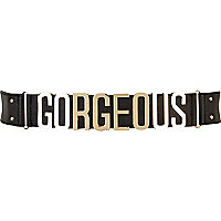 Black gorgeous waist belt