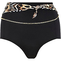Brown Pacha high waisted bikini bottoms