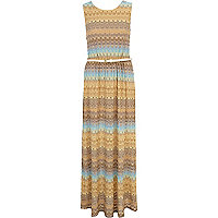 Blue Chelsea Girl belted maxi dress