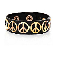 Black Peace sign bracelet