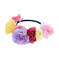 Pink oversized flower stretch head band
