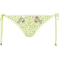Lime Pacha embellished bikini bottoms