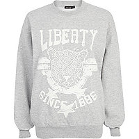 Grey Liberty tiger print sweatshirt