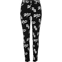 Black varsity print Molly jeggings