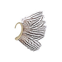 Gold tone feather ear cuff