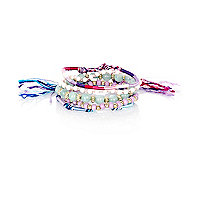 Pink bead friendship bracelet pack