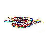 Red bead friendship bracelet pack
