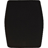 Black textured mini skirt