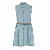 Light wash Chelsea Girl denim shirt dress