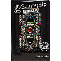Black Skinnydip bling iPhone 4/4S case