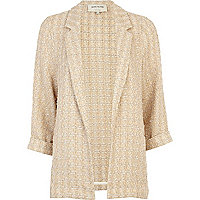 Gold textured boyfriend blazer