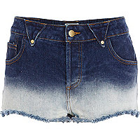 Dark wash Chelsea Girl dip dye denim shorts