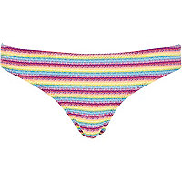 Pink stripe bikini brief