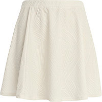 White textured skater skirt