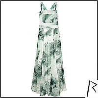 Green tie dye Rihanna overall maxi dress