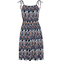 Blue Chelsea Girl printed midi dress