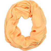 Orange mesh snood