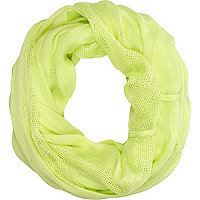 Lime mesh snood