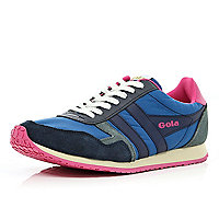 Blue Gola colour block trainers