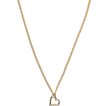 Gold plated heart short necklace