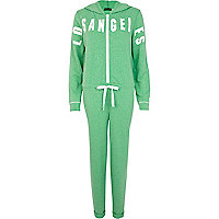 Green marl Los Angeles onesie